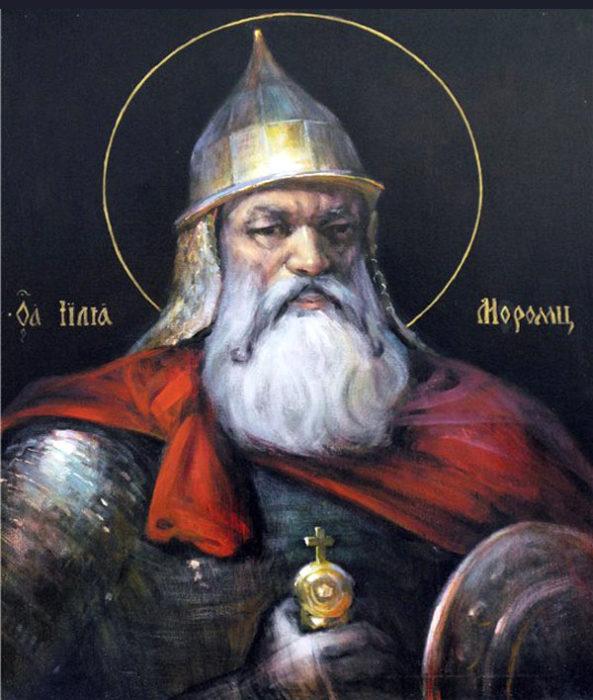 Ілля Муромець (XII ст.) - билинний руський богатир, православний святий