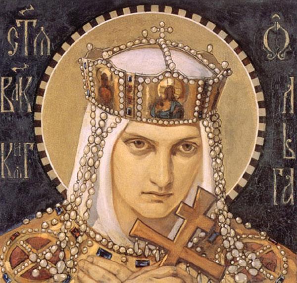 Княгиня Ольга (X ст.) - православна свята. Перша княгиня-християнка на Русі